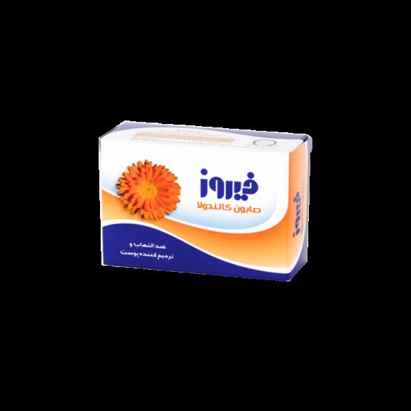 صابون کالاندولا فیروز مناسب پوست های آسیب دیده و ملتهب ۱۲۰ گرم
