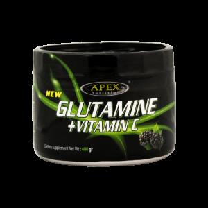 پودر گلوتامین + ویتامین C اپکس ۴۰۰ گرم