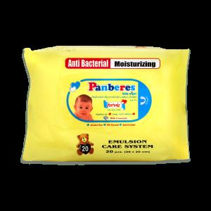 دستمال مرطوب پاک کننده کودک پنبه ریز ۲۰ عددی