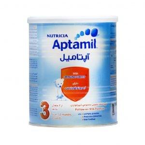 شیر خشک آپتامیل ۳ نوتریشیا از ۱۲ ماهگی به بعد ۴۰۰ گرم