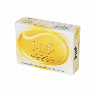 صابون گلیسیرینه فیروز مناسب پوست های خشک و حساس ۱۰۰ گرم
