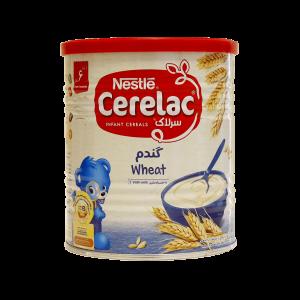 سرلاک گندم به همراه شیر