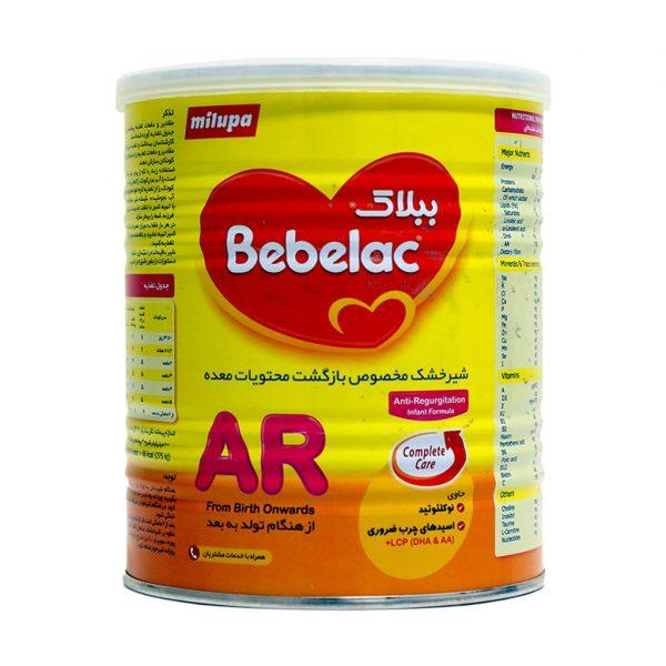 شیر خشک ببلاک ای آر میلوپا مخصوص رفلاکس ۴۰۰ گرم