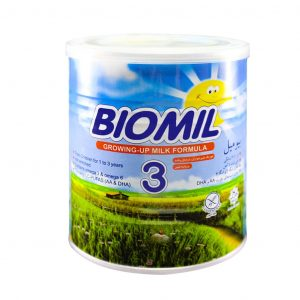 شیر خشک بیومیل ۳ فاسبل مناسب ۱ تا ۳ سالگی ۴۰۰ گرم