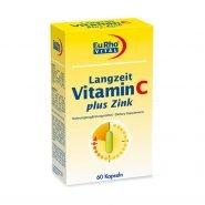 کپسول ویتامین C + زینک (۵ میلی گرم) یوروویتال ۶۰ عددی