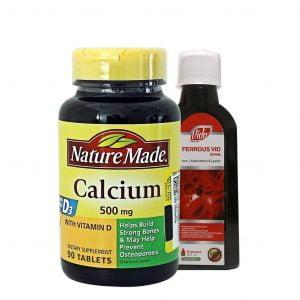 قرص کلسیم + ویتامین D3 نیچرمید