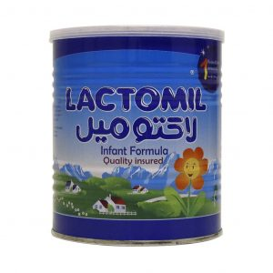 شیر خشک لاکتومیل ۱ مخصوص از بدو تولد تا ۶ ماهگی ۴۰۰ گرم