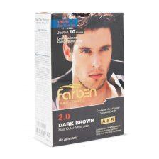 شامپو رنگ موی مردانه قهوه ای تیره فاربن