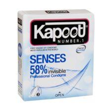 کاندوم نازک کاپوت مدل Senses 58%