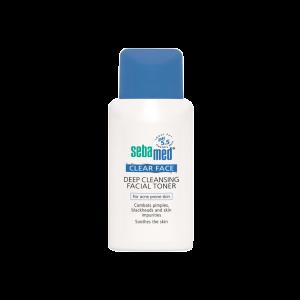 تونر پاک کننده صورت کلیر فیس سبامد مناسب پوست های آکنه دار ۱۵۰میلی لیتر