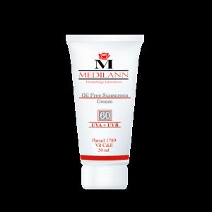 کرم ضد آفتاب رنگی SPF60 مدیلن مناسب پوست های چرب و آکنه ای