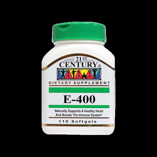 کپسول ژلاتینی ویتامین ای ۴۰۰ واحد ۲۱ سنتری