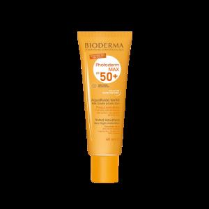 فلوئید ضد آفتاب فتودرم مکس آکوا ⁺SPF50 بایودرما مناسب پوست های چرب تا مختلط ۴۰ میلی لیتر
