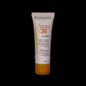 فلوئید ضد آفتاب فتودرم آکنه مت SPF30 بایودرما مناسب پوست های مختلط تا چرب ۴۰ میلی لیتر