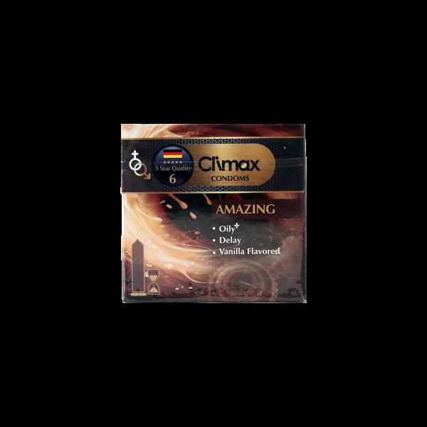 کاندوم ساده و تاخیری کلایمکس مدل Amazing  بسته ۳ عددی