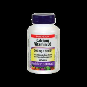 قرص کلسیم و ویتامین D3 وبر نچرالز ۶۰ عددی