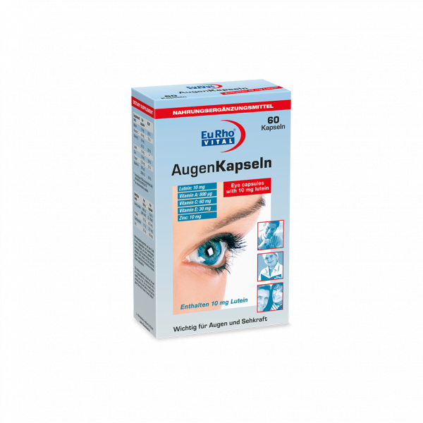 کپسول چشم اوژن یوروویتال ۶۰ عددی