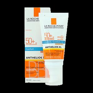 کرم ضد آفتاب BB لاروش پوزای SPF50 مدل آنتلیوس کامفورت مناسب پوست های معمولی، خشک و حساس ۵۰ میلی لیتر