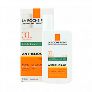 فلوئید ضد آفتاب مات ضد آکنه لاروش پوزای SPF30 مدل آنتلیوس AC مناسب پوست های چرب و دارای جوش حجم ۵۰ میلی لیتر