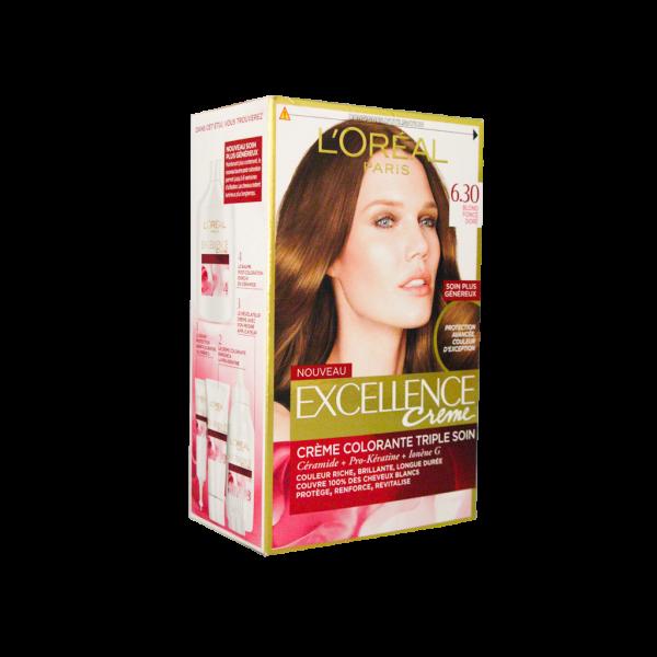 کیت رنگ مو لورآل شماره ۶٫۳۰ مدل اکسلنس