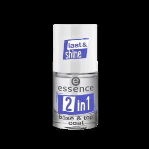 تاپ کت و لاک پایه دو کاره اسنس مدل Last & Shine
