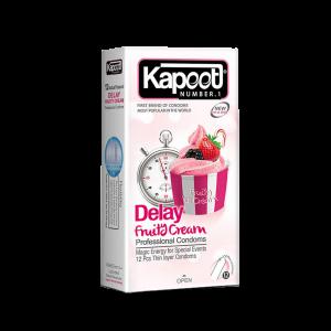 کاندوم تاخیری کاپوت مدل Delay Fruity Cream تعداد ۱۲ عدد