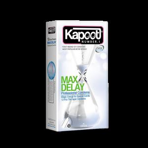 کاندوم تاخیری مضاعف کاپوت مدل Max Delay تعداد ۱۲ عدد