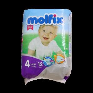 پوشک مولفیکس سایز ۴ بزرگ مخصوص کودکان ۷ تا ۱۸ کیلوگرم