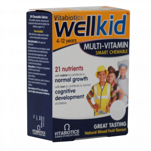 قرص مولتی ویتامین جویدنی ول کید ویتابیوتیکس ۳۰ عددی