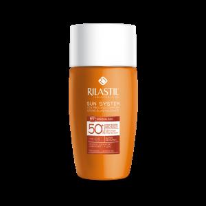 فلوئید ضد آفتاب رنگی ریلاستیل ⁺SPF50 با حجم ۵۰ میلی لیتر