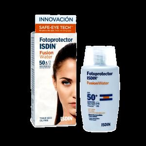 ژل کرم ضد آفتاب فیوژن واتر ایزدین ⁺SPF50 فاقد چربی ۵۰ میلی لیتر