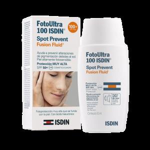 فلوئید ضد آفتاب فتو اولترا اسپات ایزدین SPF100 مناسب پوست دارای لک ۵۰ میلی لیتر