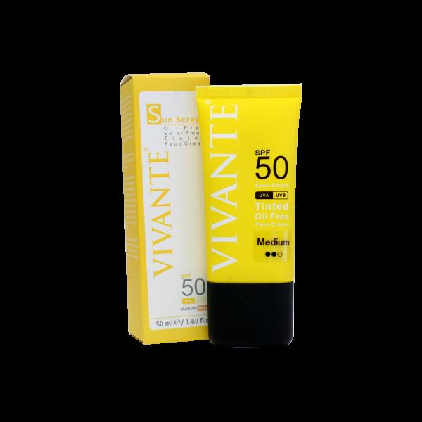 کرم ضد آفتاب رنگی فاقد چربی ویوانته SPF50 حجم ۵۰ میلی لیتر