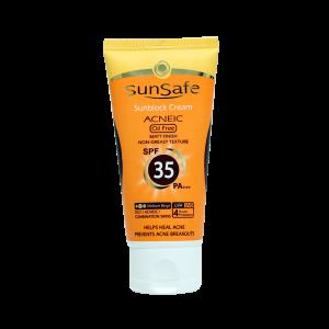 کرم ضد آفتاب SPF35 رنگی فاقد چربی سان سیف