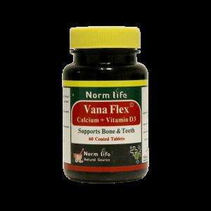 قرص وانا فلکس کلسیم + ویتامین D3 نورم لایف ۶۰ عددی