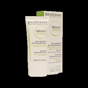 کرم ضدآکنه و ضد التهاب سبیوم سنستیو بایودرما مناسب پوست چرب ۳۰ میلی لیتر