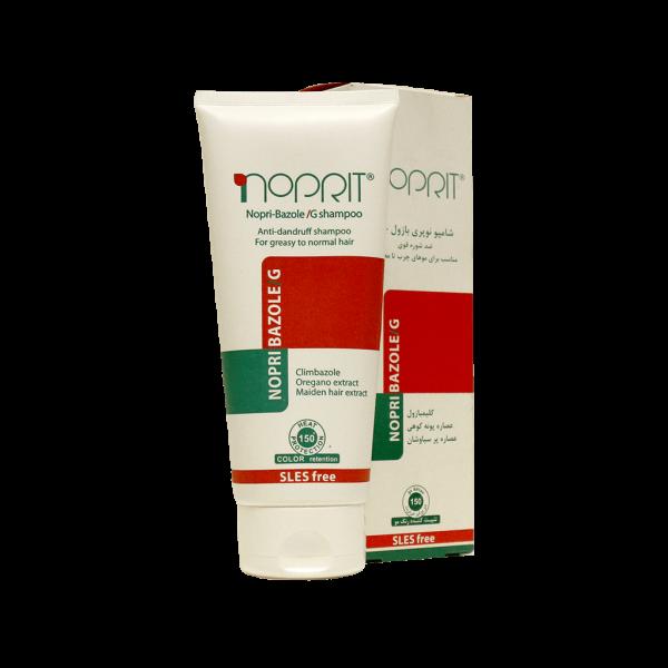 شامپو ضد شوره نوپری بازول جی نوپریت مناسب موهای چرب تا معمولی ۲۰۰ میلی لیتر
