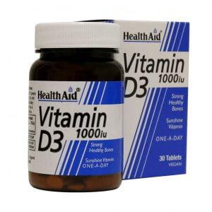 قرص ویتامین دی هلث اید 1000 میکروگرم 30 عدد