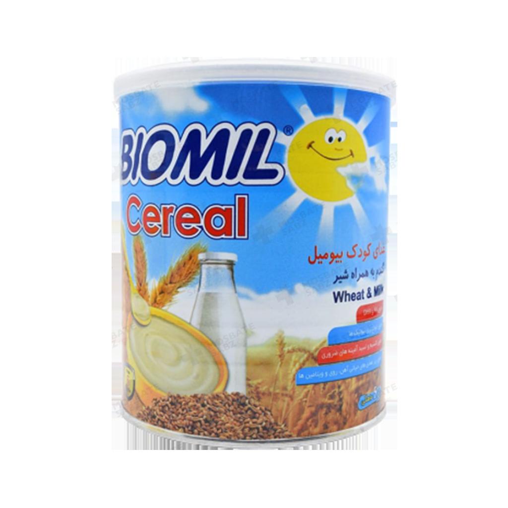 بیومیل سرآل گندم به همراه شیر