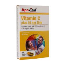 کپسول ویتامین C و زینک آپوویتال