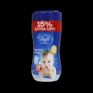 دستمال مرطوب پاک کننده کودک دافی مناسب التهاب و سوختگی 50 عدد