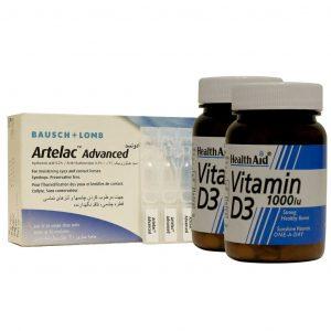 پک قطره تک دوز آرتلاک ادونسد به همراه 2 عدد قرص ویتامین D هلث اید