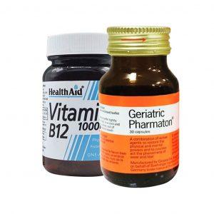 پک کپسول ژریاتریک فارماتون و قرص ویتامین ب۱۲ هلث اید