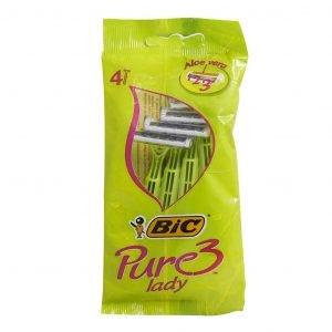 خود تراش 4 عددی بیک مدل Pure 3 Lady