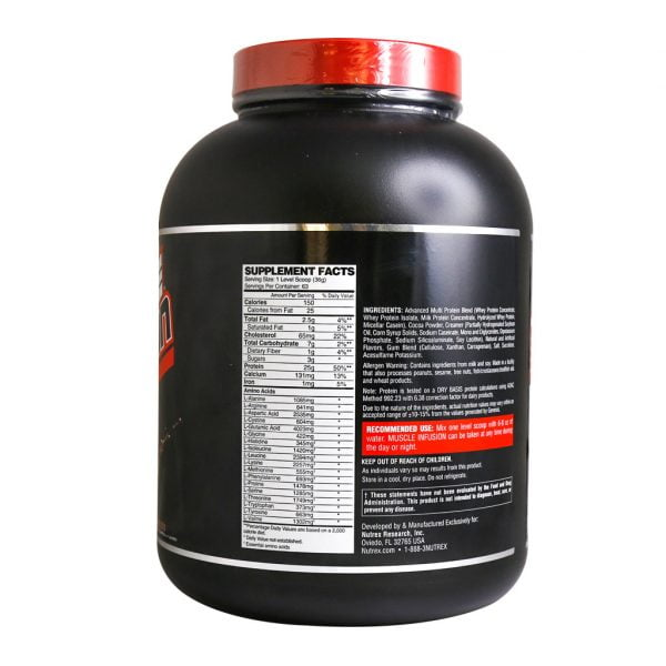 پروتئین ترکیبی ماسل اینفیوژن نوترکس سری بلک 2268 گرم