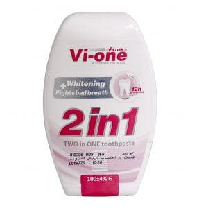 خمیردندان 1×2 وی وان سفید کننده و کاهش دهنده بوی بد دهان 100 گرم