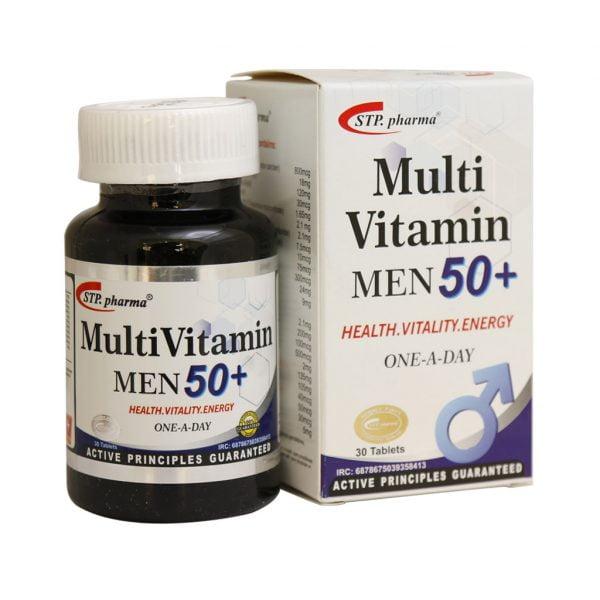 مولتی ویتامین مردان بالای 50 سال اس تی پی فارما 30 عدد