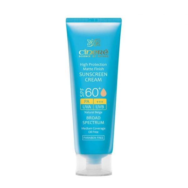 کرم ضد آفتاب رنگی SPF60 سینره فاقد چربی 50 میلی لیتر