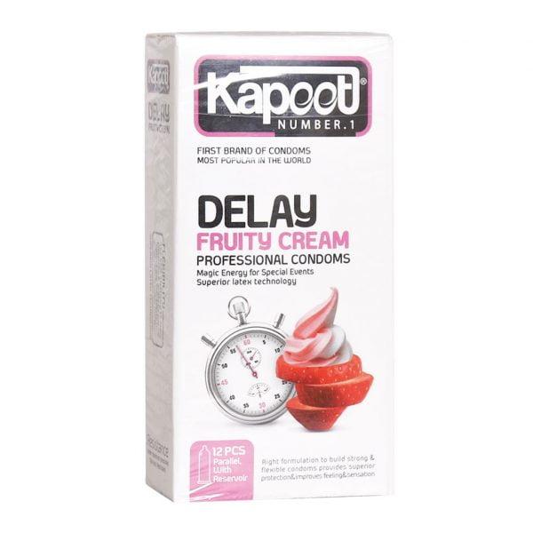 کاندوم تاخیری میوه ای کاپوت مدل Delay Fruity Cream تعداد 12 عدد