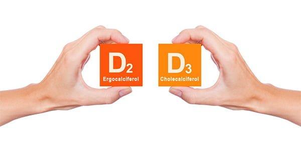 تفاوت ویتامین D2 و D3